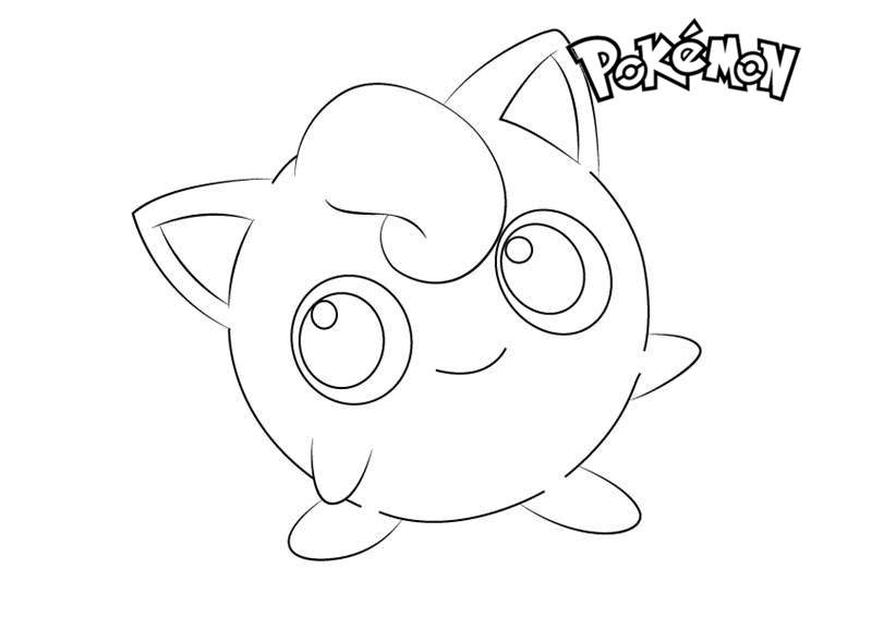 Free Jigglypuff from Pokemon Coloring Pages printable