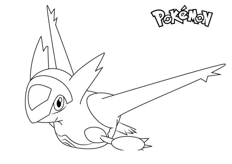 Free Latias from Pokemon Coloring Pages printable