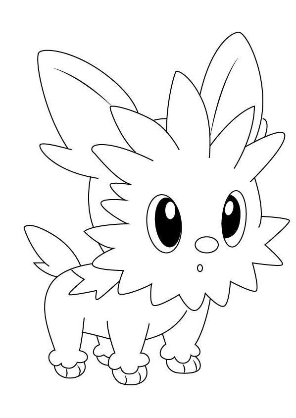 Lillipup from Pokemon Coloring Pages - Free Printable Coloring Pages