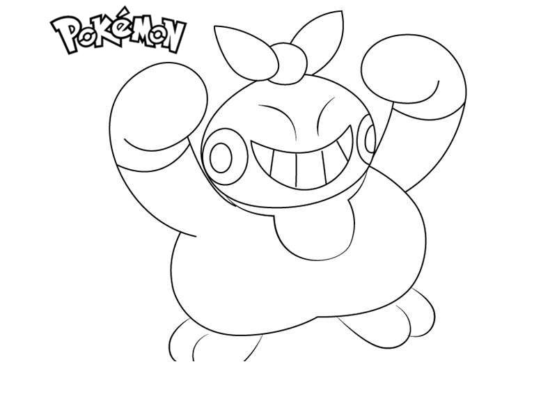 Free Makuhita from Pokemon Coloring Pages printable
