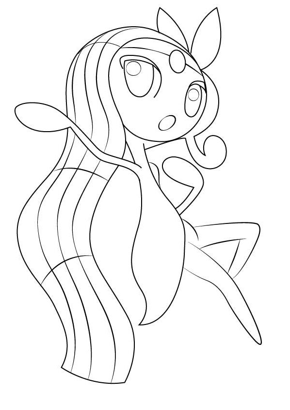 Free Meloetta from Pokemon Coloring Pages printable