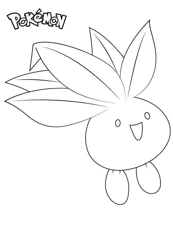 Free Oddish from Pokemon Coloring Pages printable
