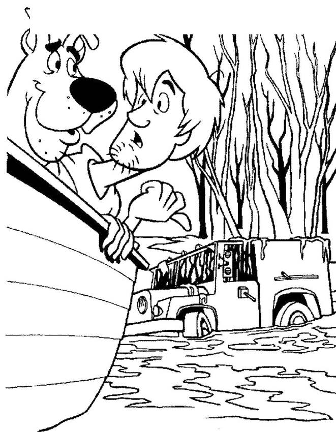 Free Printable Scooby Doo Coloring Pages on Boat printable