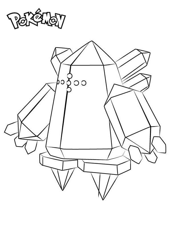 Regice from Pokemon Coloring Pages Free Printable