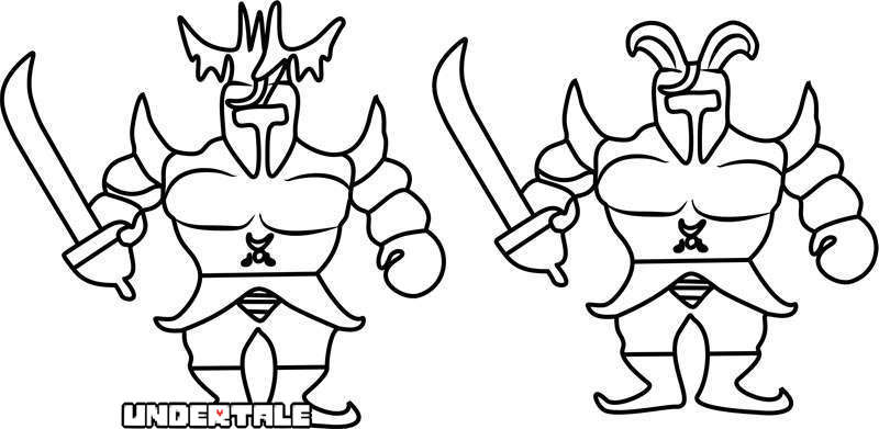 Free Royal Guards from Undertale Coloring Pages printable