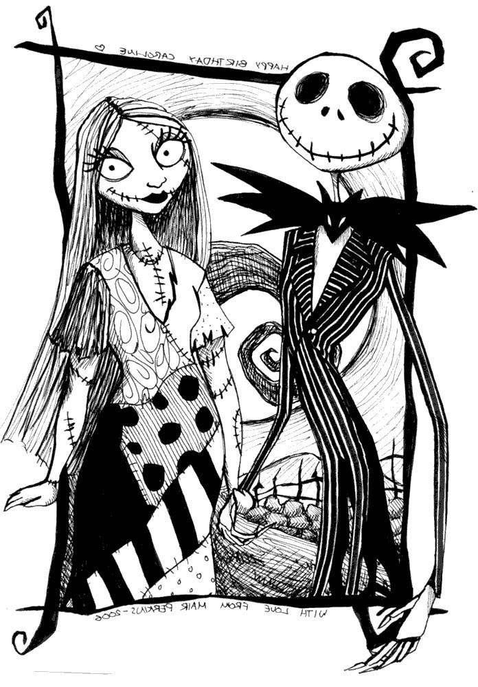 jack skellington coloring pages | Sally from Jack Skellington Coloring Pages - Free ...