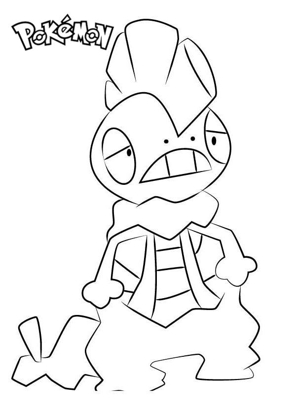 Free Scrafty from Pokemon Coloring Pages printable