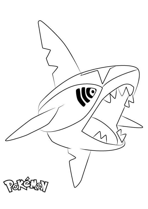 Free Sharpedo from Pokemon Coloring Pages printable