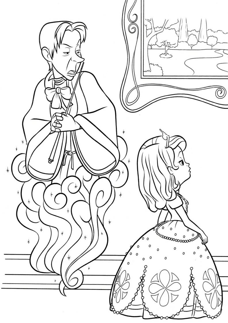 Sofia The First Coloring Pages Cedric the Sorcerer - Free ...