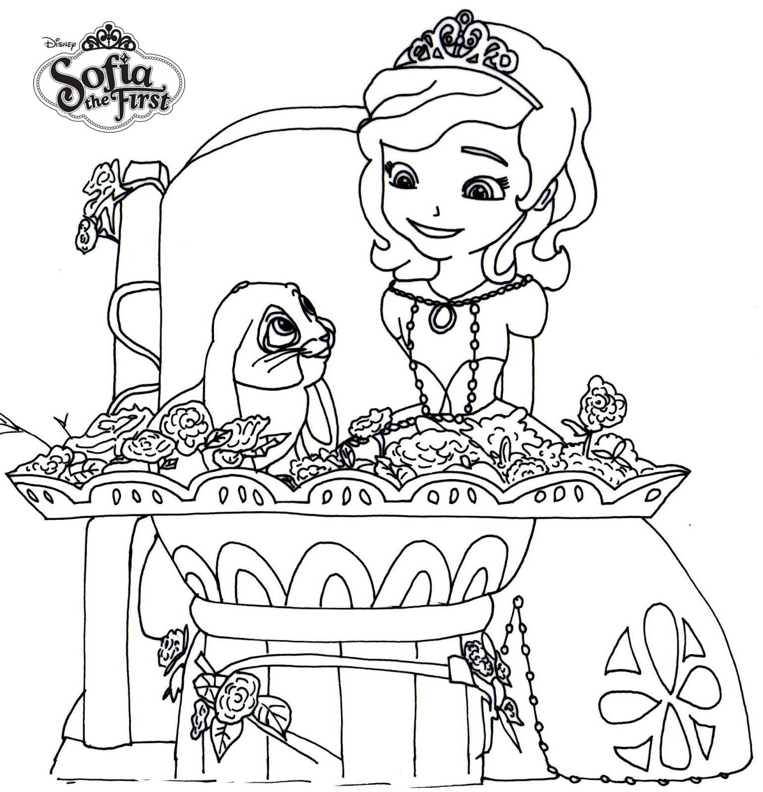 Sofia The First Coloring Pages Clover and Soifa - Free Printable ...