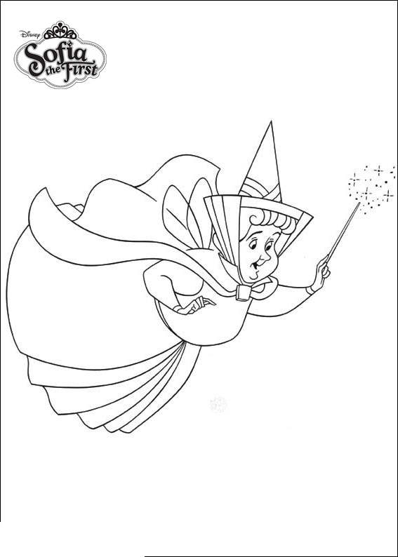 Sofia The First Coloring Pages Fairy Godmother Free