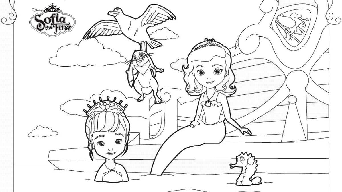Sofia The First Coloring Pages Mermaids Sofia Free Printable