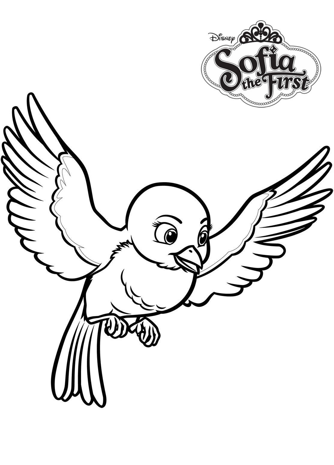 Free Sofia The First Coloring Pages Mia the Bluebird printable