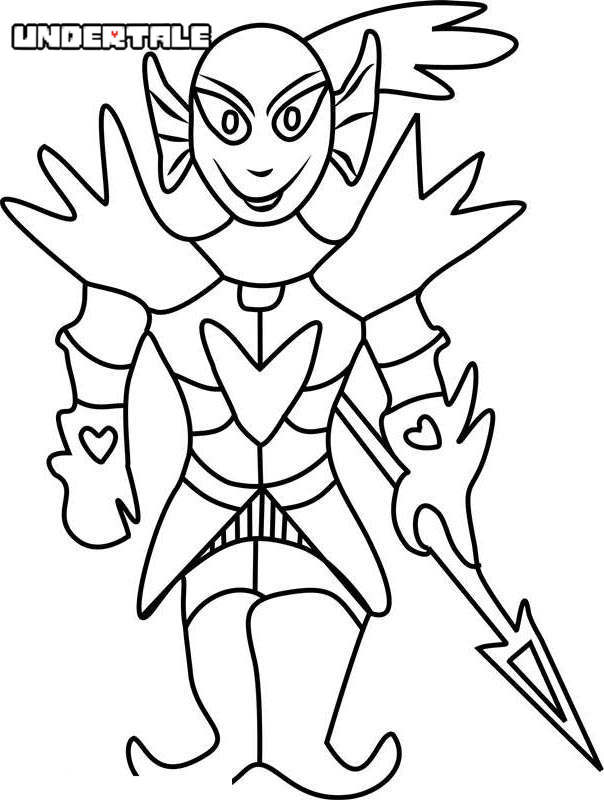 Undying From Undertale Coloring Pages Free Printable Coloring Pages
