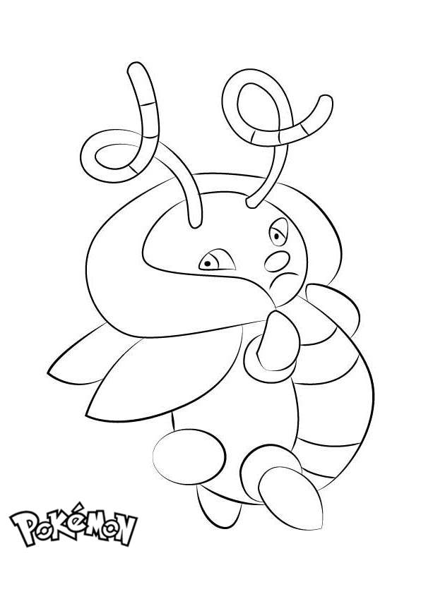 Free Volbeat from Pokemon Coloring Pages printable