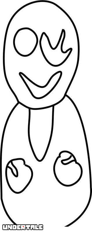 Free W D Gaster from Undertale Coloring Pages printable