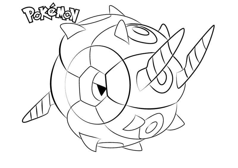 Free Whirlipede from Pokemon Coloring Pages printable