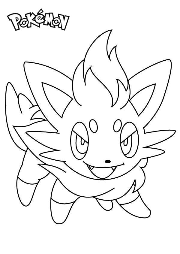 Free Zorua from Pokemon Coloring Pages printable