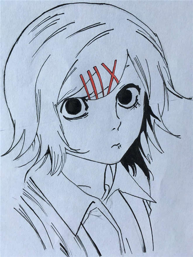 how to draw Tokyo Ghoul Coloring