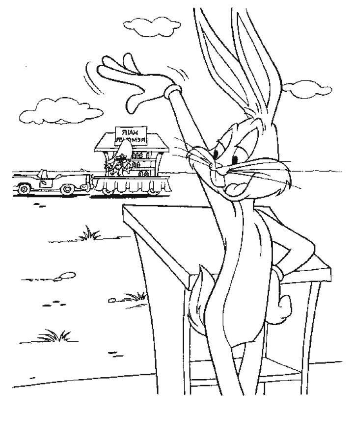 Free Awesome Bugs Bunny Coloring Pages for Girls printable