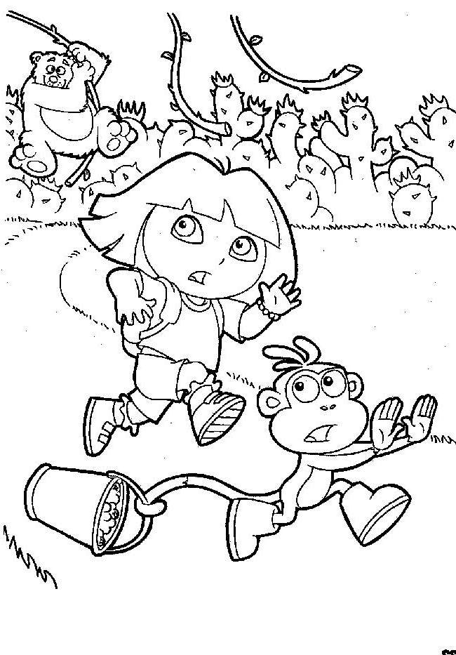 Free Awesome Dora The Explorer Coloring Pages for Kids printable