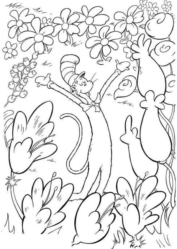 Free Awesome Dr Seuss Coloring Pages Linear printable