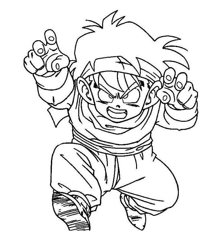 Free Awesome Dragon Ball Z Coloring Pages for Boys printable