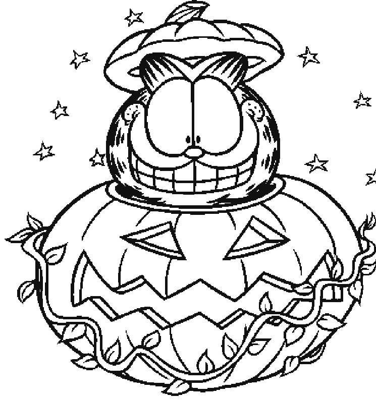 Free Awesome Garfield Coloring Pages Fan Art printable