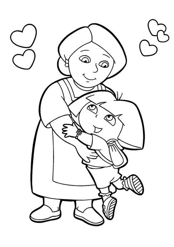 Free Best Dora The Explorer Coloring Pages Lineart printable