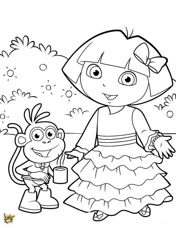 free download dora coloring pages - photo#21