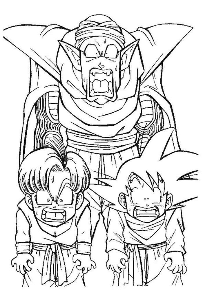 Free Best Dragon Ball Z Coloring Pages Lineart printable