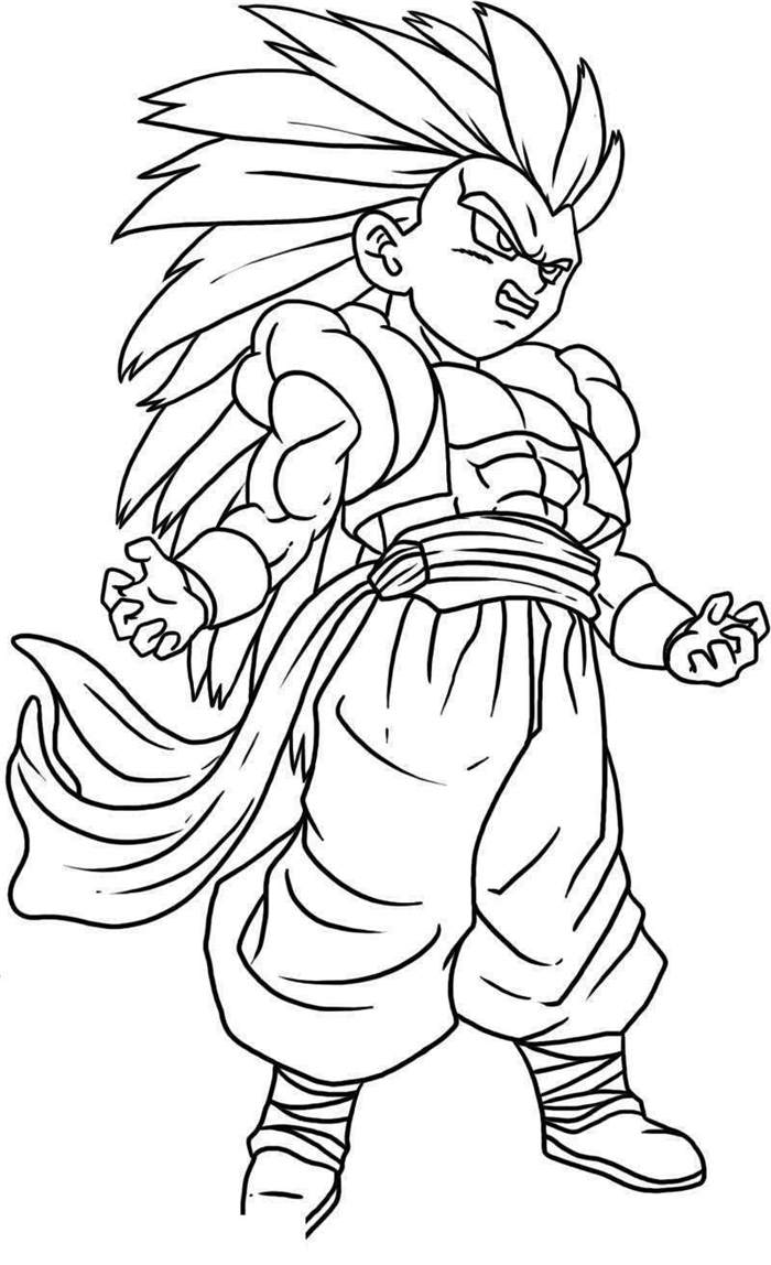 Free Best Dragon Ball Z Coloring Pages Worksheet printable