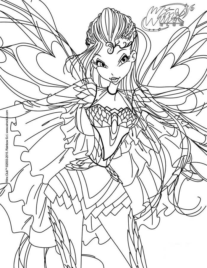 Free Best Winx Coloring Pages Linear printable