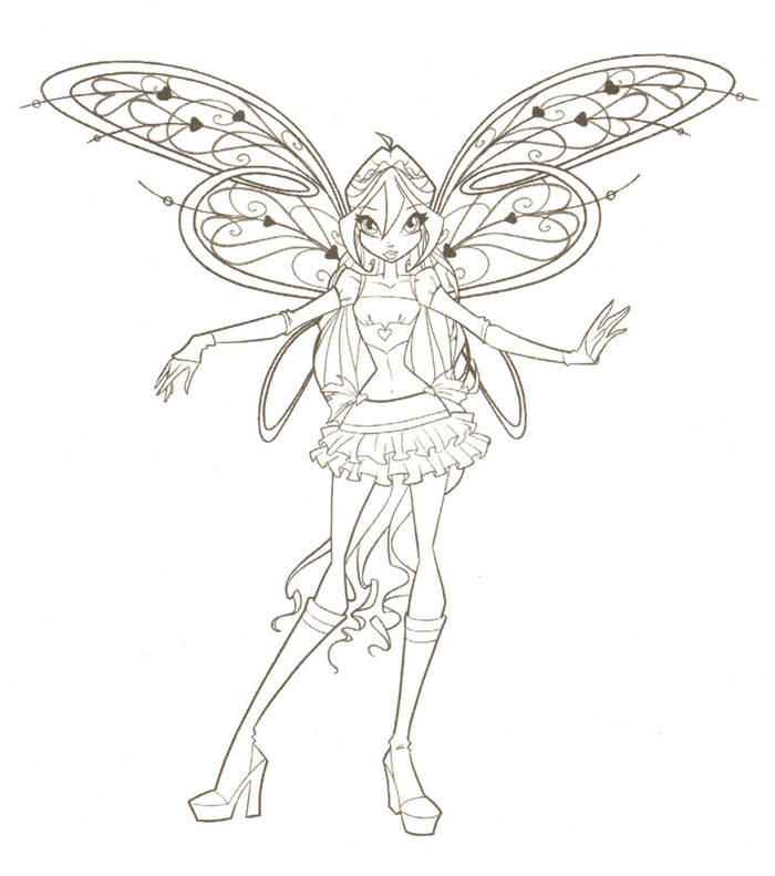 Free Best Winx Coloring Pages Sketch printable