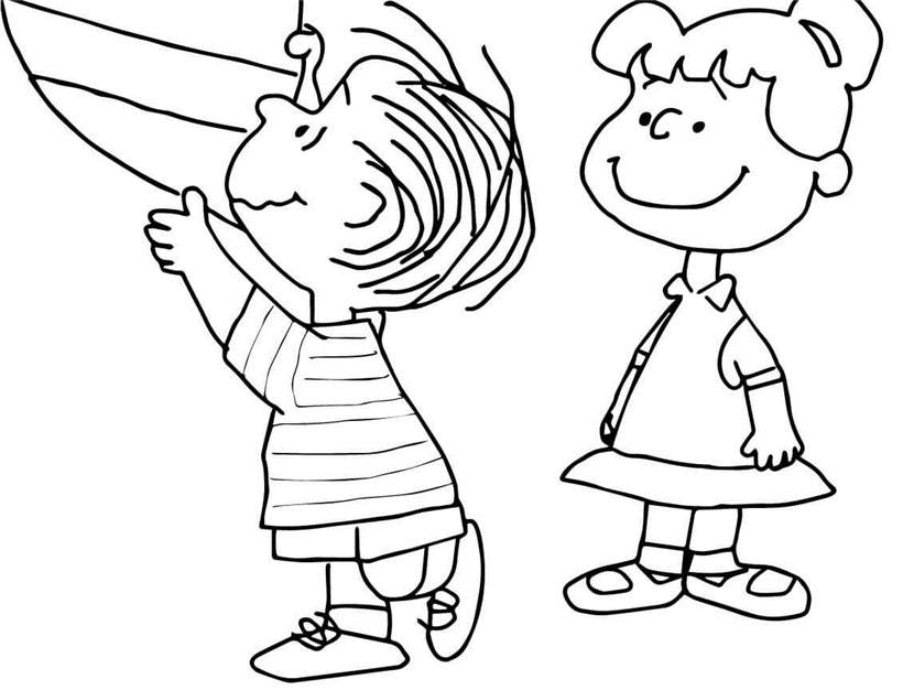 Charlie Brown Coloring Pages Black and White - Free ...