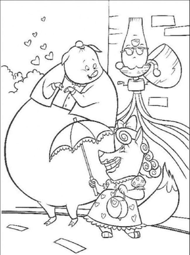 Free Chicken Little Coloring Pages Printable for Kids printable