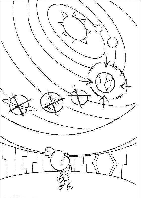 chicken little coloring pages solar system free printable coloring