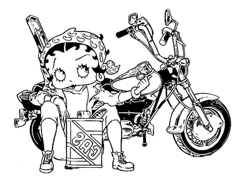 Free Collection of Betty Boop Coloring Pages Lineart printable
