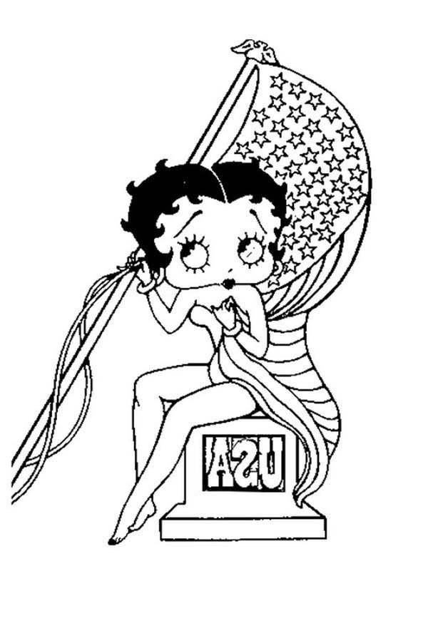 Free Collection of Betty Boop Coloring Pages for Kids printable
