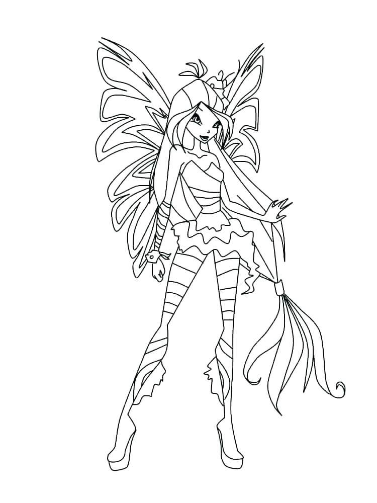 Free Collection of Winx Coloring Pages Linear printable