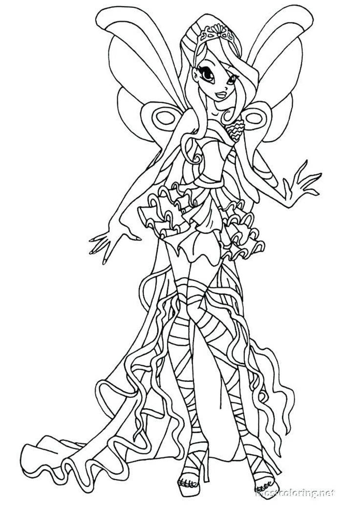 Free Collection of Winx Coloring Pages for Girls printable