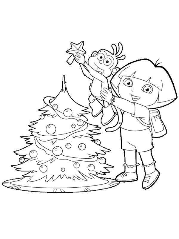 cute dora  explorer coloring pages characters
