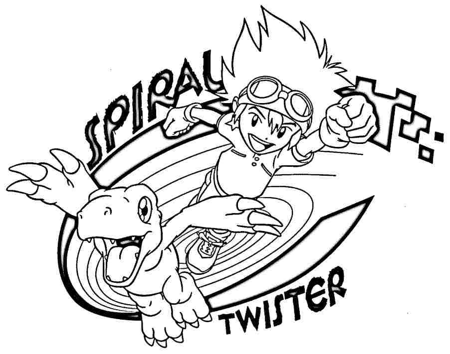 Free Easy Digimon Coloring Pages Fan Art printable
