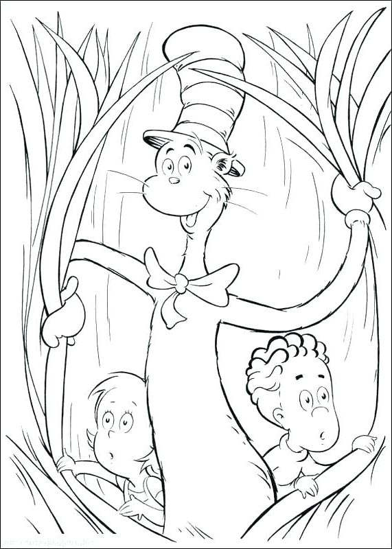 Free Easy Dr Seuss Coloring Pages Linear printable