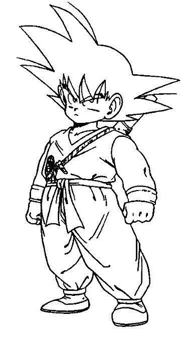 Free Easy Dragon Ball Z Coloring Pages Lineart printable