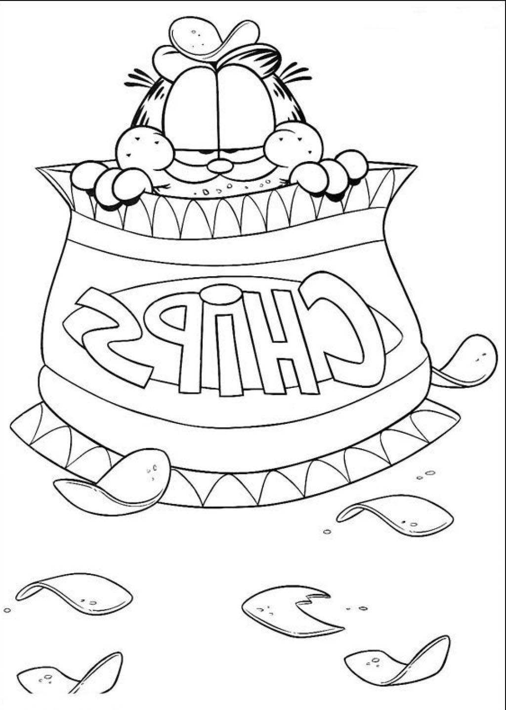 Free Easy Garfield Coloring Pages Characters printable