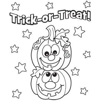 Easy Halloween Pumpkins Coloring Pages Trick or Treat - Free ...