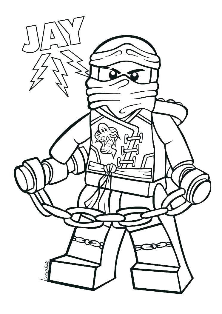 Free Easy LEGO Ninjago Coloring Pages Clipart printable