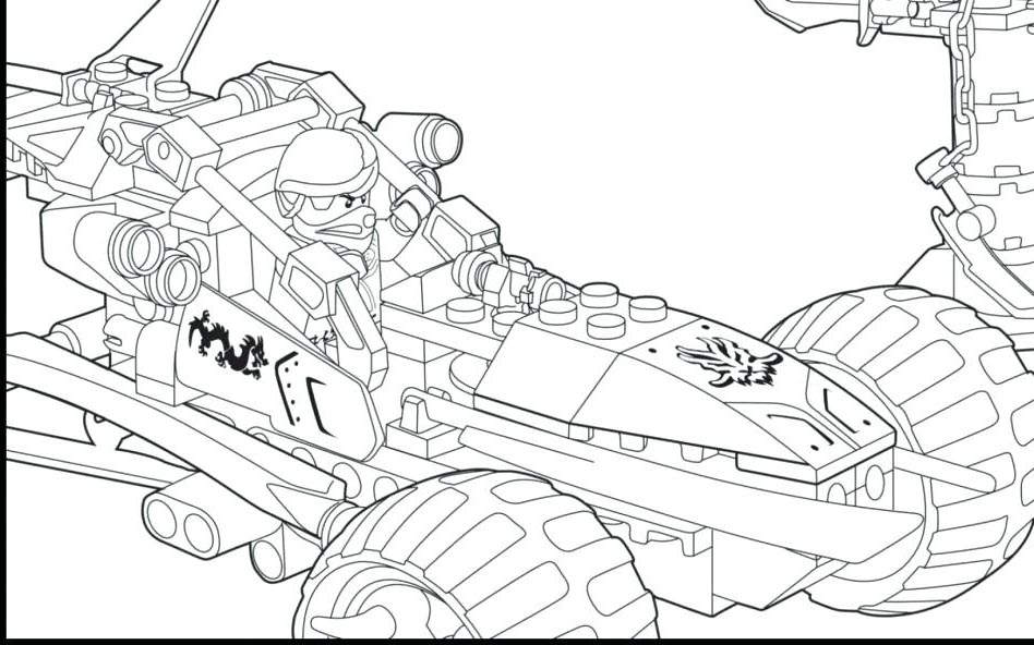 Easy LEGO Ninjago Coloring Pages Worksheet - Free ...