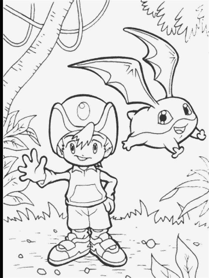 new digimon coloring pages - photo#21